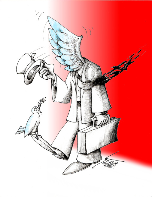 "Cartoon ""Price of Peace"" By Cartoonist  Kaveh Adel"