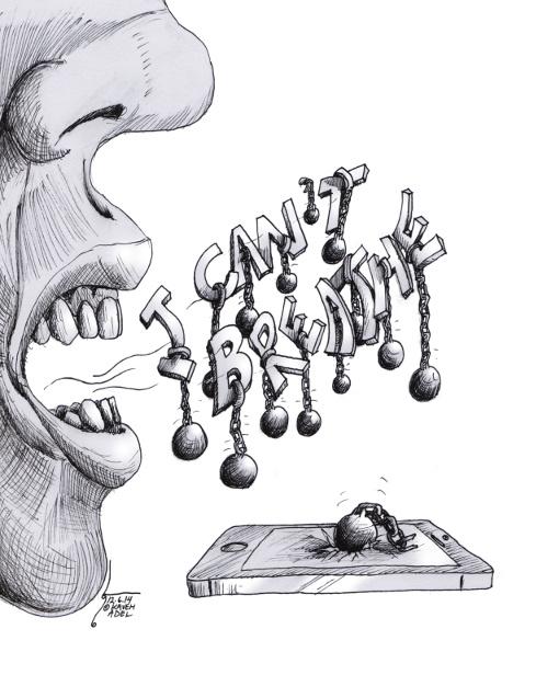 "political Cartoon ""I Can't Breathe"" By Kaveh Adel Iranian American Cartoonist"