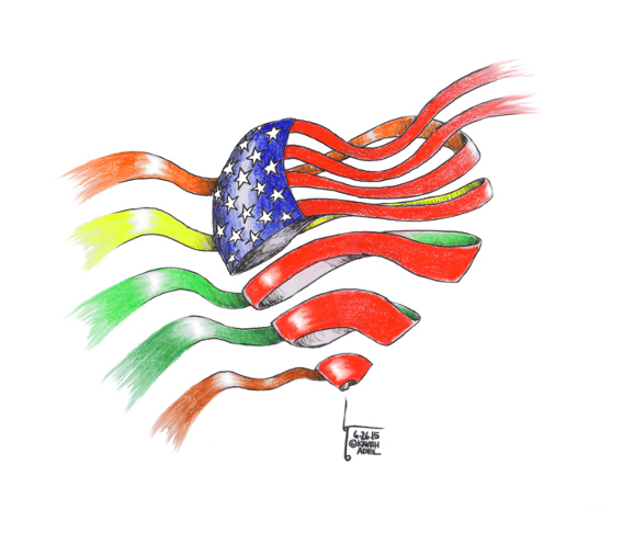 "Cartoon titled: ""Love Wins""  By Iranian American Cartoonist, Kaveh Adel  2015©KavehAdel.com My most sincere congratulations to the LGBT community in the United States of America. We are all created equally and have the right to love and share our lives with whoever with choose. #lovewins #MarriageEquality #LGBT #LGBTrights #SCOTUSCartoon titled: ""Love Wins""  By Iranian American Cartoonist, Kaveh Adel  2015©KavehAdel.com My most sincere congratulations to the LGBT community in the United States of America. We are all created equally and have the right to love and share our lives with whoever with choose. #lovewins #MarriageEquality #LGBT #LGBTrights #SCOTUS"
