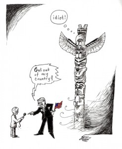 "Cartoon titled: ""Make America Great"" By Iranian American Cartoonist, Kaveh Adel 2015©KavehAdel.com"